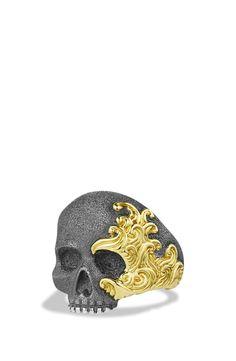 David Yurman 'Waves' Skull Ring with Gold | Nordstrom