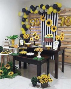 Sunflower Birthday Parties, Sunflower Party, Birthday Brunch, Baby Birthday, Baby Crafts, Diy And Crafts, Cake Decorating Designs, Bridal Shower, Baby Shower