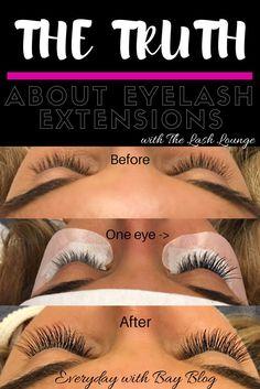 The Truth About Eyelash Extensions eyelash extensions eyes lash game lash boost Longer Eyelashes, Mink Eyelashes, Lash Lounge, Beauty Hacks Eyelashes, Beauty Hacks For Teens, Eyelash Serum, Eye Liner Tricks, Eye Makeup Tips, Makeup Ideas