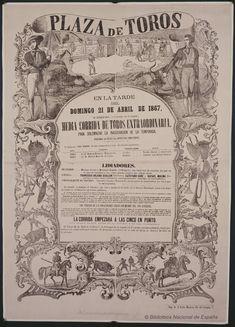 Media corrida de toros extraordinaria. Plaza de Toros de Madrid — Dibujos, grabados y fotografías — 1867