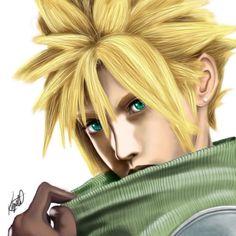 ff7 cloud Final Fantasy Art, Fantasy Series, Cloud Strife, Dreadlocks, Clouds, Hair Styles, Beauty, Hair Plait Styles, Hairdos
