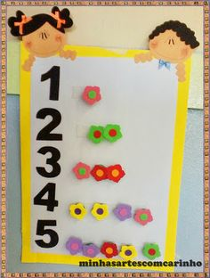 panel nùmeros Toddler Class, Math For Kids, Games For Kids, Crafts For Kids, Infant Classroom, Preschool Classroom, Classroom Decor, Preschool Activities, Home Preschool