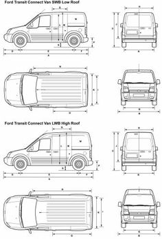 ford transit connect dimensions  van stuff  Pinterest  The o