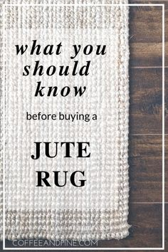 Jute Rug Review – Coffee and Pine
