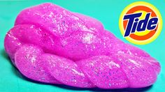 DIY: PINK Glitter TIDE SLIME! Only 2 Ingredients: Glue + Laundry Deterge...