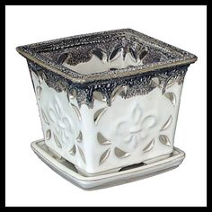 Go to lowes get a nice orchid flowerpot to use as yarn bowl it already has holes!
