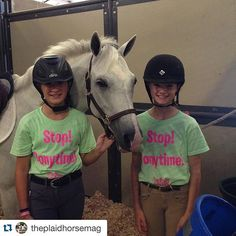 Come down and see us!! #Repost @theplaidhorsemag .  Get your TPH Stop! Ponytime! tee today at @welsh_wear and @mightyminis at @ludwigsshow
