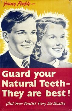 Vintage Poster - Dentist - Teeth - I want this in my bathroom