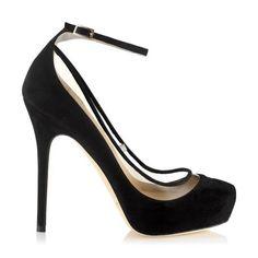 Black Suede Platform Pumps   Platform Shoes   Tantric   JIMMY CHOO Pumps