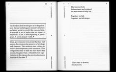 Radical Transparency –Ben Schwartz - Booksfromthefuture↵