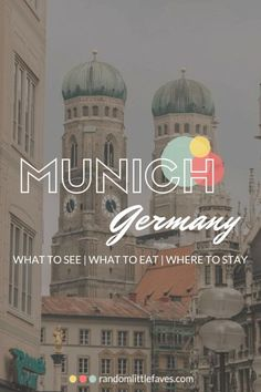 The Best Things to See & Do Munich, Germany.The Best Things to See & Do! - Random Little Faves Source by heartandmoxie. Germany And Italy, Munich Germany, Visit Germany, European Vacation, European Travel, The Places Youll Go, Cool Places To Visit, Budapest, Amsterdam