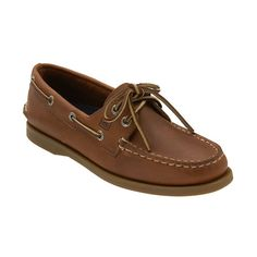 Sperry Top-Sider 'Authentic Original' Leather Boat Shoe (£56) ❤ liked on Polyvore featuring shoes, loafers, men, sperry, boat shoes, flats, brown moccasins, brown shoes, brown flats and leather moccasins