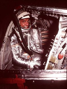 Astronaut Alan Shepard, Jr., poses in the Mercury space craft at Cape Canaveral in 1961. Shepard, the first American to fly in space and one of only 12 Americans to walk on the moon, died late Tuesday, July 21, 1998 at a hospital in California. He was 74. (AP Photo/File) Photo: AP / AP