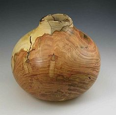 honey locust turned wood vessel