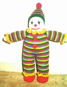 Clown Free Knitting Pattern