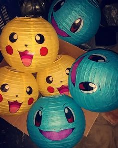 Pokemon Party Ideas – Sendo Online Invitations Pikachu & squirtle lanterns I made for my son's birthday party. DIY The post Pokemon Party Ideas – Sendo Online Invitations appeared first on Poke Ball. Pokemon Themed Party, Pokemon Birthday, Minion Birthday, 6th Birthday Parties, Birthday Fun, 10th Birthday, Birthday Celebration, Birthday Ideas, Cake Birthday