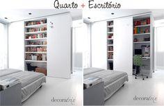 quarto + escritório - pequenos espaços