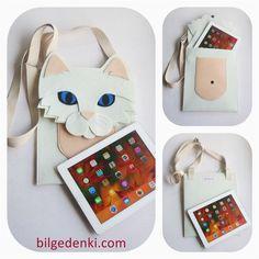Ipad/tablet kılıfı iran kedisi çanta – Bilge'nin Tasarım Dünyası