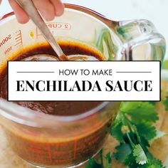 authentic mexican salsa This homemade red enchilada sauce is so GOOD and easy + has authentic Mexican flavor! Youll never go back to store-bought sauce again. This recipe freezes well, too! Authentic Enchilada Recipe, Authentic Mexican Chicken Recipes, Authentic Mexican Salsa, Mexican Salsa Recipes, Recipes With Enchilada Sauce, Homemade Enchilada Sauce, Homemade Enchiladas, Red Enchilada Sauce, Homemade Sauce