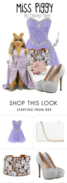 """""""Miss Piggy"""" by disney-teen ❤ liked on Polyvore featuring Anya Hindmarch, STELLA McCARTNEY, women's clothing, women's fashion, women, female, woman, misses and juniors"""