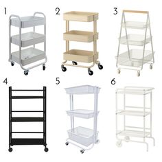 My Favorite Nursery Organization Solution (Right Now!) If you are struggling to carve our more functional storage in your baby's nursery, check out this super smart Diaper Cart solution! Diaper Storage, Diaper Organization, Baby Storage, Kids Storage, Storage Organization, Storage Drawers, Changing Table Organization, Diaper Caddy, Baby Nursery Organization