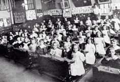 it is mostly common that children growing up during the industrial revolution that were in the middle class never had to work in factories, instead, they got to attend school. The schools also had some elements of factory production. Old Pictures, Old Photos, Vintage Photographs, Vintage Photos, Old School House, School Days, School Stuff, Victorian Life, Victorian Gothic
