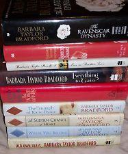 Lot of 9 Barbara Taylor Bradford Books Hardcover Romance Novels
