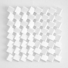 untitled (15 06) 55 x 55 x 6 cm paper, cardboard, acrylic paint