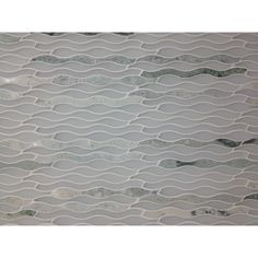 Shop 12 x11 3/4 Allure Kelp Frosted Stone + Glass Tile in Ming Green+ White at TileBar.com.