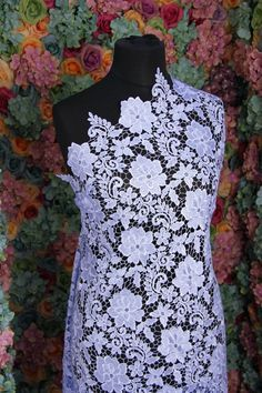 GF02 Lavender guipure frech bridal lace sold by BridalLaceFabric