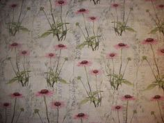 Flowering Herbs Cone Flower country farm kitchen fabric curtain topper Valance #Handmade #Nautical