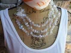 Statement Necklace of Hand Blown Glass Bubble Wedding Bridal Collar Bib Necklace. Chanel in Bubbles!!