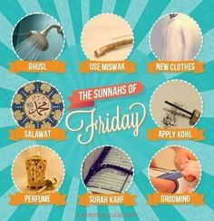 Sunnah Rasulullah SAW on friday...