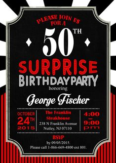 12 Pastor Fischer S Surprise 50th Birthday Party Ideas Surprise 50th Birthday Party 50th Birthday Party Surprise 50th