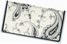 Checkbook Cover  AG Floral Paisley duplicate by rabbitholeonline, $6.25