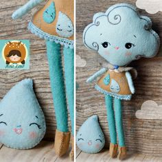 Cloud Girl Felt Doll Pattern | If you're a crafty one, check out this gorgeous felt sewing pattern!