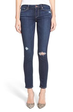 Paige Denim 'Skyline' Ankle Peg Jeans (Elia Deconstructed) available at #Nordstrom