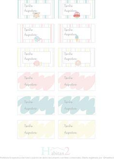 Etiquetas marca libros gratis !!! diseño de H A B I T A N 2 http://habitandos.blogspot.com.es