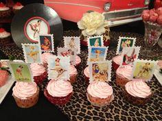 30th birthday pinup/rockabilly cupcakes