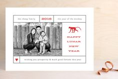 Lunar Lookup Chinese New Years card by Up Up Creative for Minted