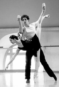 Amandine Albisson and Stéphane Bullion   Paris Opera Ballet   Photo by Francette Levieux