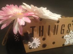Things.  We all have things.  Here's a fun and by Bedotted on Etsy, $17.00