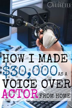 This stay at home dad is a legit voice over actor and he does it from his own house! That's totally awesome. Earn Money From Home, Way To Make Money, Make Money Online, Money Fast, The Voice, Mind Reading Tricks, Mind Tricks, Stay At Home Dad, Home Based Business
