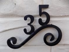 Heavy Duty Wrought Iron Scrolled Bespoke House Number Plaque
