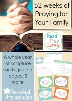 Free 52-Week Praying for Your Family Printable!