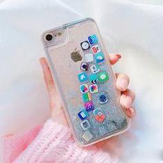 App Glitter Quicksand iPhone Case Cute Phone Cases, Iphone Phone Cases, Iphone Case Covers, Apple Iphone, Iphone 8 Plus, Apple Coque, Diy Iphone Case, Capas Iphone 6, Apple Watch Band