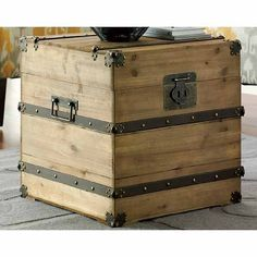 Trunk as bedside table