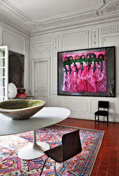NOIR BLANC un style: Couleurs, design et art contemporain dans une maison bourgeoise du sud de la France