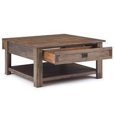 Large Square Coffee Table, Coffee Table Images, Wood Square, Square Tables, Coffee Table Design, Diy Coffee Table Plans, Contemporary Coffee Table, Rustic Contemporary, Reclaimed Wood Coffee Table