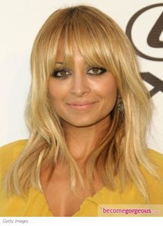 Nicole Richie Layered Hair with Bangs - Soft Autumn